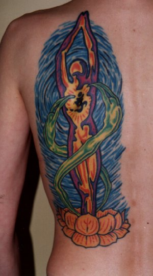 "was done in '96 by Dave Ayres from ""SKIN DEEP"" tattoo in England,"